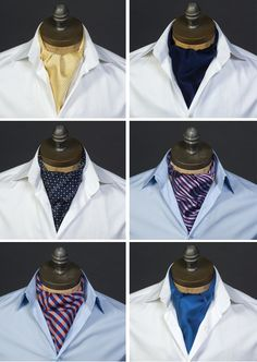 Have your groom dressed like the most interesting man in the world with these ascots!