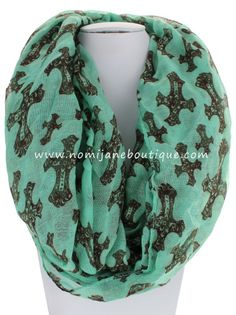 Mint To Be Infinity Scarf~ $16 Shop Now > http://nomijaneboutique.com/collections/new-arrivals/products/mint-to-be?variant=11223315716