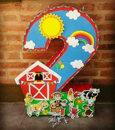 Cumpleaños dos Baby Boy Birthday, Farm Birthday, Birthday Party Themes, Happy Birthday, Farm Themed Party, Farm Party, Ideas Para Fiestas, Animal Party, School Projects