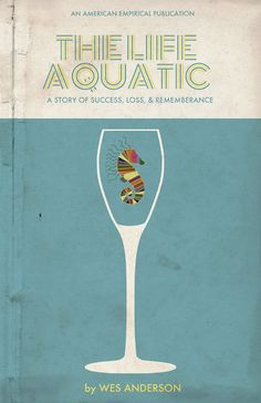 """Vintage book cover aesthetic // """"The Life Aquatic"""" Movie Poster"""
