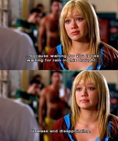 // waiting for you is like waiting for rain in this drought //Love this movie<3