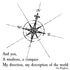 He likes the idea of using a vintage map compass as part of a logo or emblem with our names or initials that would carry through all our stationary (even after the wedding).