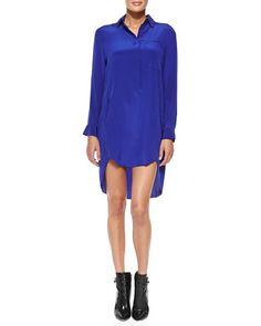 Satin High-Low Shirtdress by 10 Crosby Derek Lam at Neiman Marcus.