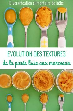 Evolution of textures: from smooth puree to pieces Quilts Vintage, Healthy Baby Food, Baby Cooking, Creative Kids Snacks, Traveling With Baby, Homemade Baby, Toddler Meals, Baby Hacks, Baby Food Recipes
