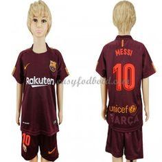 Barcelona Børn Fodboldtrøjer 2017-18 Lionel Messi 10 3. Trøje