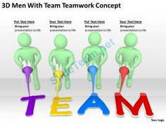 3D Men with Team Teamwork Concept Ppt Graphics Icons Powerpoint #Powerpoint #Templates #Infographics