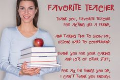 The top five teacher appreciation poems, with text and printable images, which make great cards for teachers; Teacher Appreciation Poems, Teacher Poems, Message For Teacher, Teacher Cards, Teacher Thank You, My Teacher, Teacher Sayings, Christian Teacher Gifts, Good Night Quotes