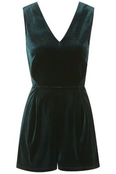 This velvet playsuit has the most beautiful lace back panel.