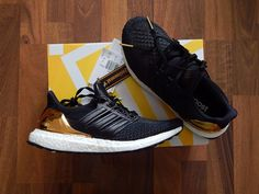 ADIDAS ULTRA BOOST BLACK OLYMPIC GOLD MEDAL PACK UK6 US6.5 BRAND NEW PRIMEKNIT…