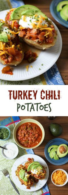 Turkey Chili Potatoes. Looking for a filling, easy, and healthy potato dinner? Look no further. See why these are one of our most popular member recipes. http://www.superhealthykids.com/turkey-chili-potatoes-recipe/