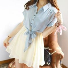 Japanese sweet chiffon dress a sweet gift for your Mom on mother's day