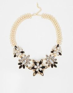 Paper Dolls Flower Statement #Necklace - Multi #statementnecklace #women #covetme #paperdolls #jewellery #accessories  #fashion #fbloggers #OOTD