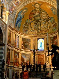 Pisa - Abside della cattedrale - mosaico di Cimabue - 1301/1302
