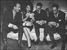 EDDIE BARCLAY,DALIDA,CHARLES AZNAVOUR,DUKE ELLINGTON