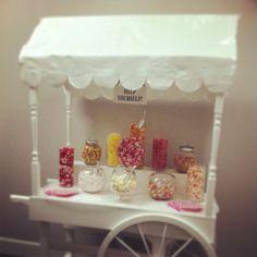 Sweet cart  Www.love-Lucy.co.uk Sweet Carts, Candy Cart, Bar Cart, Home Decor, Decoration Home, Room Decor, Home Interior Design, Home Decoration, Interior Design