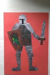 Activities for Kids: Knights in Armour using aluminum foil Medieval Crafts, Medieval Art, Renaissance Art, Medieval Times, Medieval Fantasy, Knights And Castles Topic, Castle Crafts, Tapestry Of Grace, Castle Project
