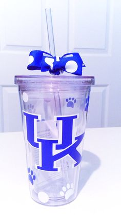 Personalized College UK University of Kentucky Tumbler Cup Glass on Etsy, $9.00