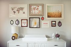 Gallery wall - A Beautiful Nursery for a Baby Girl That Defies All Stereotype | The Stir