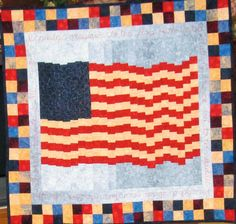 Looking for quilting project inspiration? Check out Old Glory by member Weezie50., Beyond Basic Machine Quilting on Craftsy