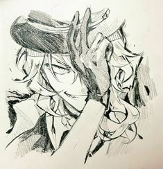 Ideas for dogs drawing beautiful Stray Dogs Anime, Bongou Stray Dogs, Manga Anime, Anime Art, Chuuya Nakahara, Satsuriku No Tenshi, Scary Art, Dog Runs, Anime Sketch