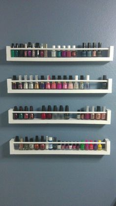 Vernis sur étagère à épices - Nail Polish on a spice rack Rangement vernis à ongles - Nail Polish Storage Fabulous Ideas