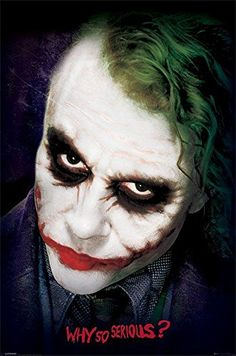 "Batman - The Dark Knight Poster Joker Face (24""x36"")"