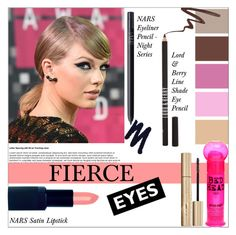 """""""Taylor Swift's Bold eyes"""" by bohedgian ❤ liked on Polyvore featuring beauty, NARS Cosmetics, Lord & Berry, Urban Decay, Stila, Bed Head by TIGI, taylorswift, NARS and polyvoreeditorai"""