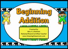Beginning Addition Promethean Flipchart Lesson for your interactive whiteboard...