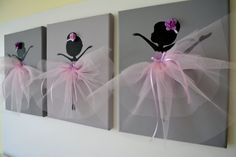Dancing Ballerinas Wall Decor. by FlorasShop on Etsy, $42.00