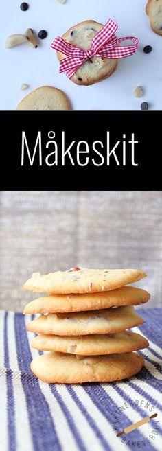 Måkeskit - nydelige småkaker med nøtter og sjokolade.