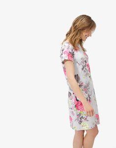 Rivieraprint Silver Posy Jersey T-Shirt Dress Dress Skirt, Wrap Dress, Shirt Dress, T Shirt, Pretty Dresses, Women's Dresses, Classic Style, My Style, Flattering Dresses