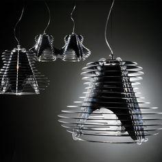 SLAMP | The Leading Light: Lampada a Sospensione - Faretto Black