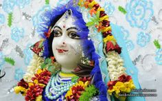 To view Radha Close Up Wallpaper of ISKCON Chowpatty in difference sizes visit - http://harekrishnawallpapers.com/srimati-radharani-close-up-wallpaper-092/
