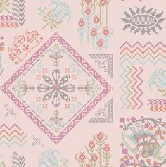 Needleworks fabrics for the Loulouthi line by Anna Maria.  You embroider on the x's!  I want it NOW.