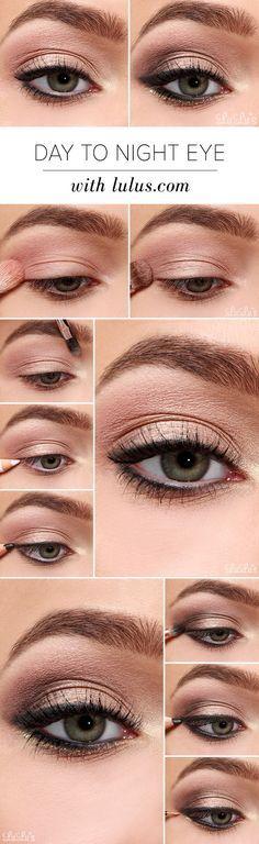 Comment passer d'un maquillage de jour à un maquillage de soirée en un clin d'oeil ;)