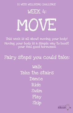 This week is all about moving your body! Take The Stairs, Move Your Body, Challenge Week, The Body Shop, Improve Yourself, Challenges, Mindfulness, Education, Feelings