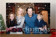 Speckle Garland Christmas Photo Cards