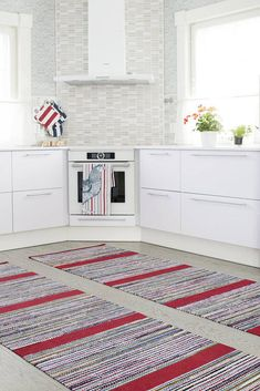 Recycled Fabric, Woven Rug, Scandinavian Style, Colorful Rugs, Pattern Design, Hand Weaving, Carpet, Stripes, Kids Rugs