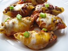 Taco Stuffed Shells. These are sooooo yummy!