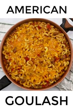 Have dinner on the table in about 30 minutes with this easy American goulash This beefy macaroni is loaded with diced tomatoes and tomato sauce then topped with cheese beefy beef macaroni recipe cheese goulash Pasta Recipes, Chicken Recipes, Cooking Recipes, Healthy Recipes, Beef Mince Recipes, Rockcrok Recipes, Nytimes Recipes, Cooking Nytimes, Beef Casserole Recipes