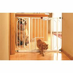 CARLSON PET GATES 916039 Extra Wide Walk Through Gate with Pet Door ** More info @