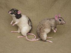 Needle Felted Mice | Needle felted mice in Etsylnigmati