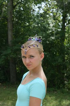 Hey, I found this really awesome Etsy listing at https://www.etsy.com/listing/200488874/ballet-headpiece-tiara-ballerina-gold