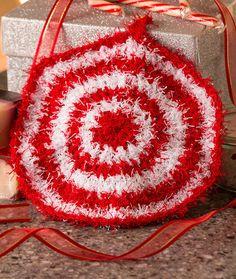 Peppermint Scrubby Free Crochet Pattern in Red Heart Yarns