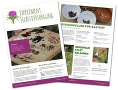 Vorschaubild der zweiseitigen PDF zum Thema Saatgut