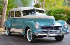 Areyou looking for an interesting car fromthe 40s? This Hudson Super 8from 1947 onour roads simply will not meet!