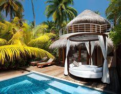 piscina em Maldivas