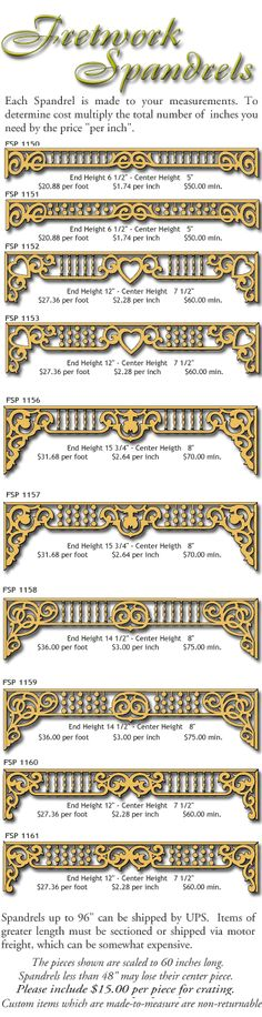 Victorian Millwork - Gingerbread House Trim Fretwork Spandrels