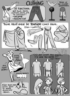 Tuesday Tips - ClothingAs always, simple is best. Clothing and fabric can be wonderful to explore in an illustration or detailed sketch, but...