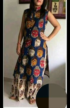 Kerala Saree Blouse Designs, Kalamkari Designs, Churidar Designs, Kurta Designs Women, Indian Designer Outfits, Designer Dresses, Party Wear Maxi Dresses, Kurtha Designs, Kalamkari Dresses